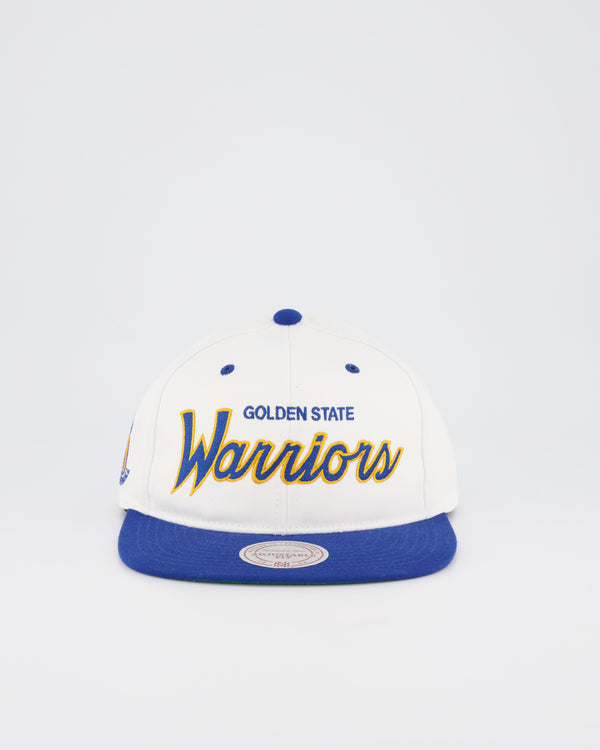 GOLDEN STATE WARRIORS NBA DEADSTOCK SNAPBACK - WHITE TEAM SCRIPT
