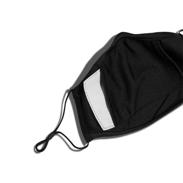 New Era Plain Face Mask - Black