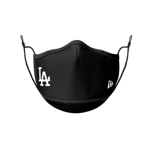 New Era New LA Dodgers Logo Face Mask - Black