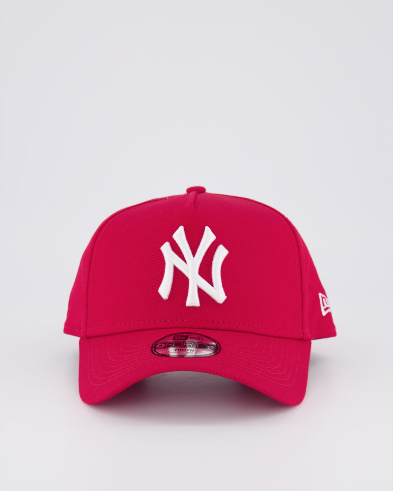 YOUTH NY YANKEES 9FORTY A-FRAME - SCARLET RED