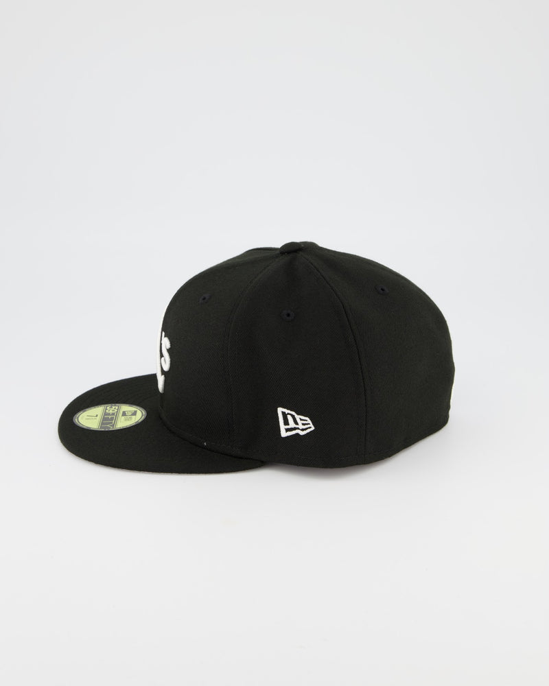 Oakland Athletics 59FIFTY Fitted Cap - Black/White