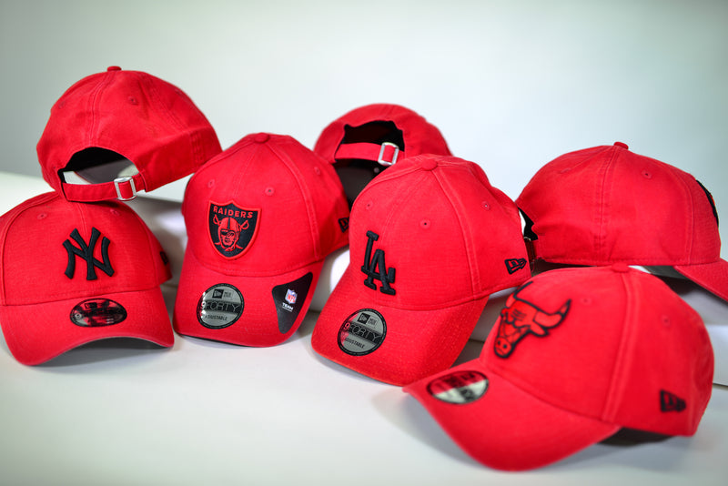 OAKLAND RAIDERS 9FORTY CS CANVAS STRAPBACK - SCARLET/BLACK