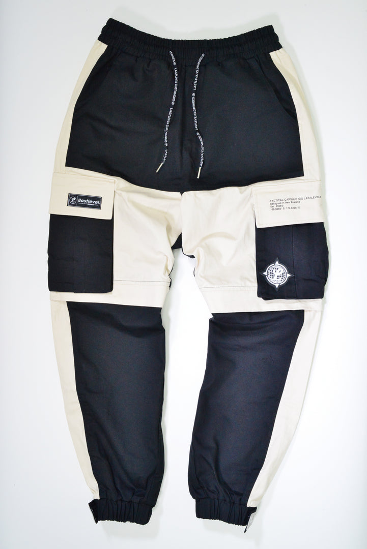 LASTLEVEL COBRA CARGO PANTS - STONE/BLACK