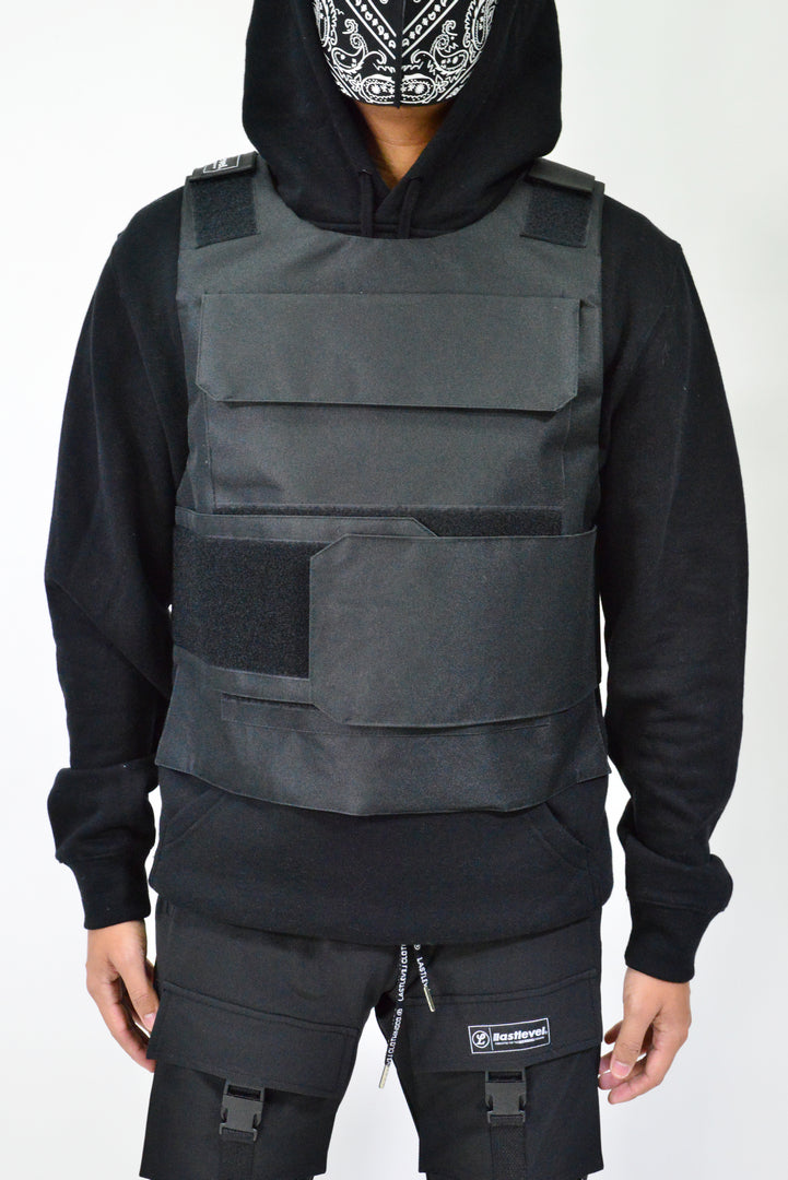LASTLEVEL ADULTS TACTICAL CAPSULE VEST - BLACK