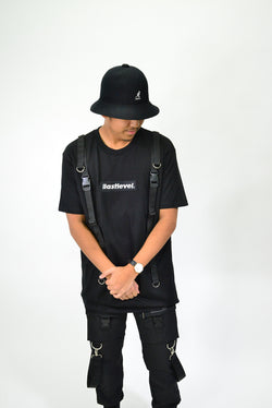 BOX LOGO TACTICAL STRAP TEE - BLACK