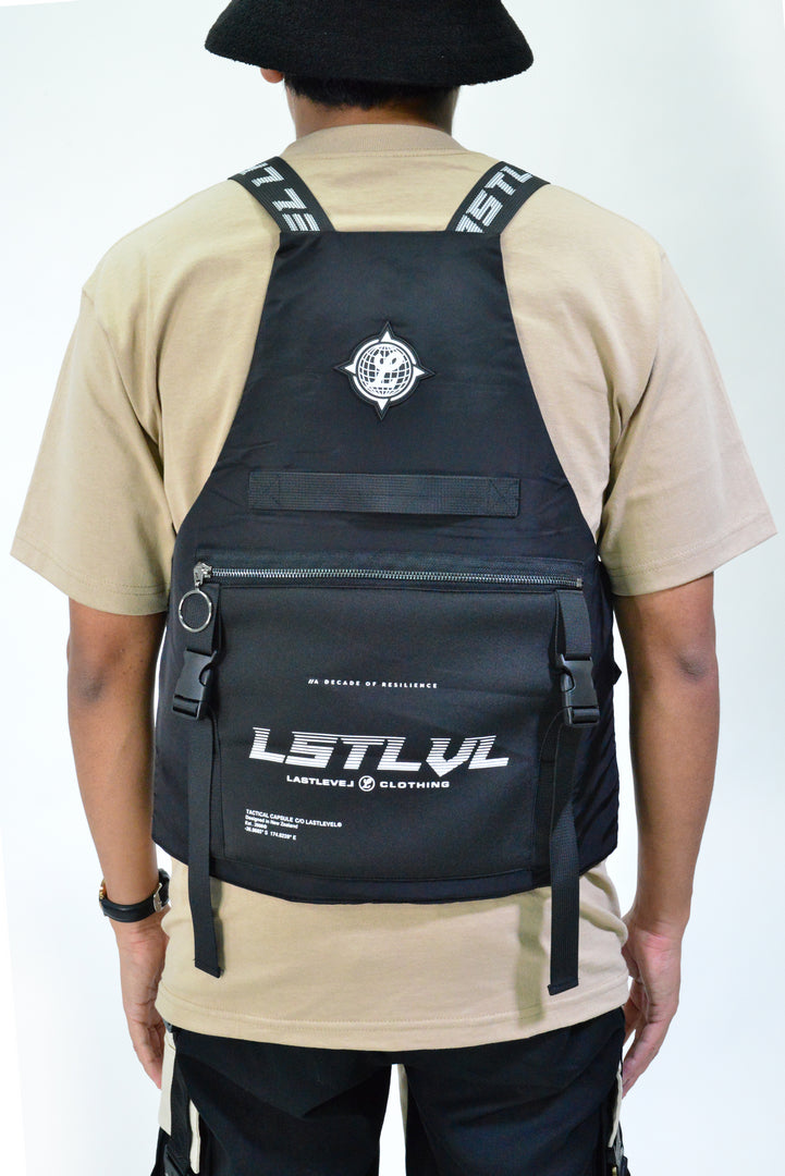 LASTLEVEL ADULTS OFFSET VEST - BLACK