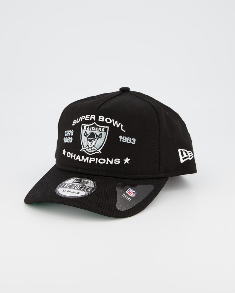 OAKLAND RAIDERS THE GOLFER CHAMPIONSHIP SNAPBACK - BLACK