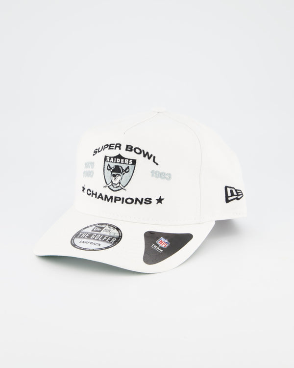OAKLAND RAIDERS THE GOLFER CHAMPIONSHIP SNAPBACK - WHITE