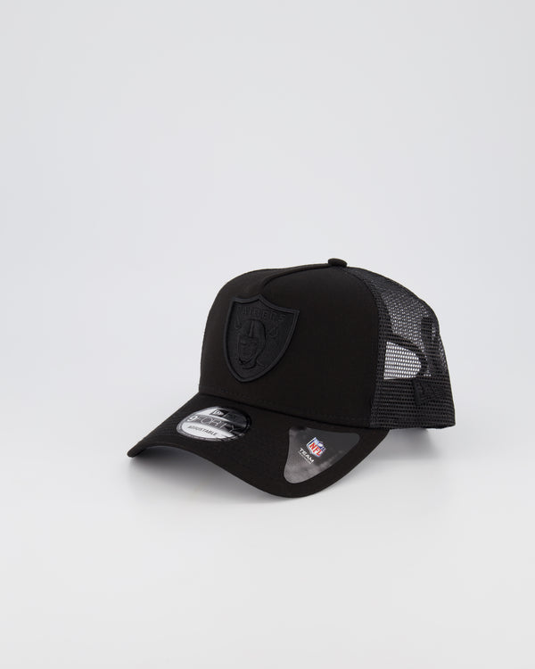 OAKLAND RAIDERS MESH TRUCKER 9FORTY A-FRAME - BLACK ON BLACK