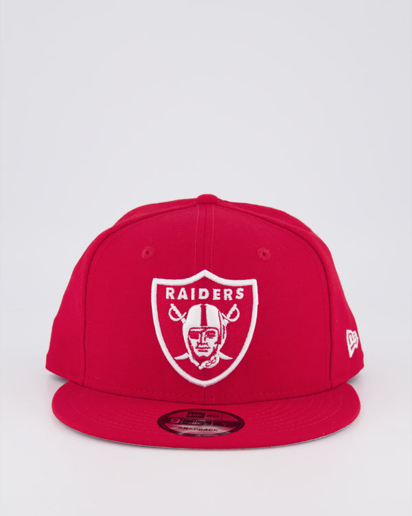 OAKLAND RAIDERS 9FIFTY SNAPBACK - SCARLET RED/GREY UV