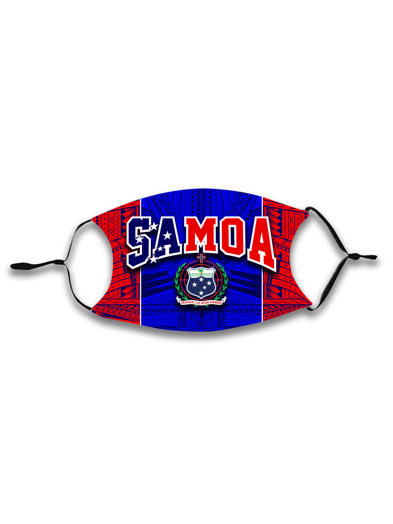 SAMOA ADJUSTABLE FACE MASK with Filter - KIDS & ADULTS