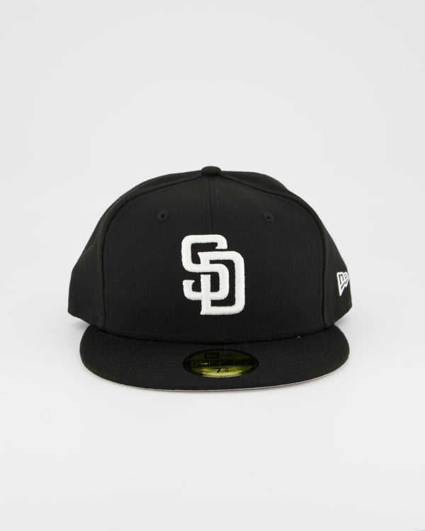 San Diego Padres 59FIFTY Fitted Cap - Black/White