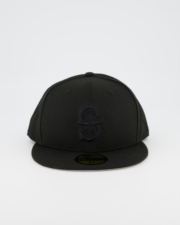Seattle Mariners 59FIFTY Fitted Cap - Black on Black