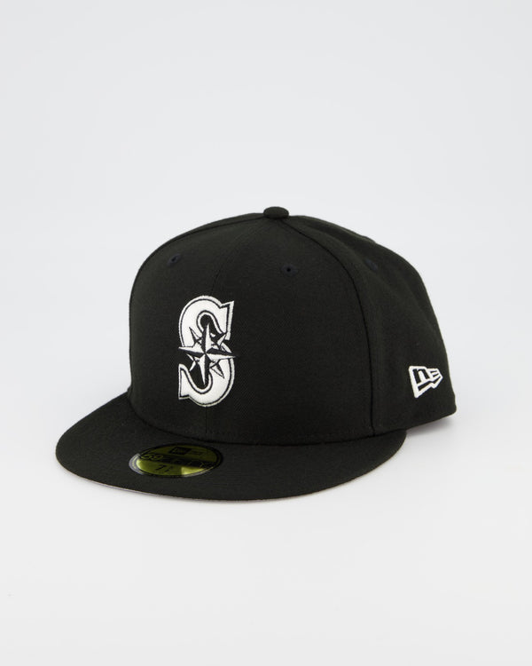 Seattle Mariners 59FIFTY Fitted Cap - Black/White