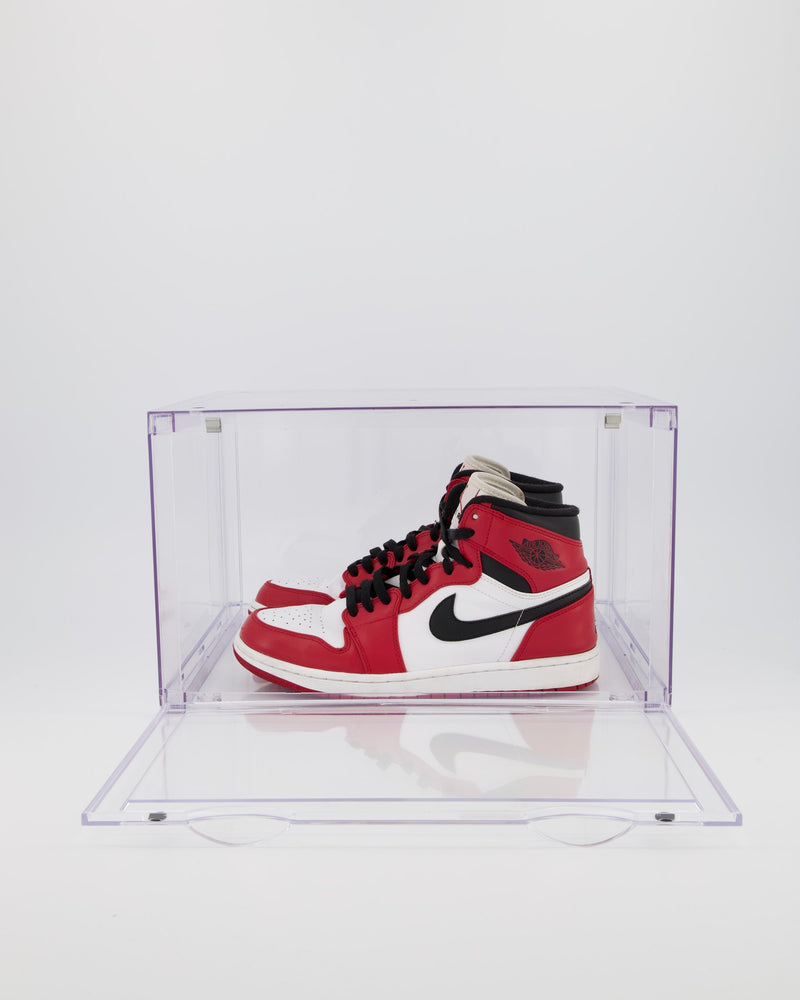 6 PK CT SNEAKER BOX SIDE DROP DISPLAY (6 BOXES) - ALL CLEAR ACRYLIC