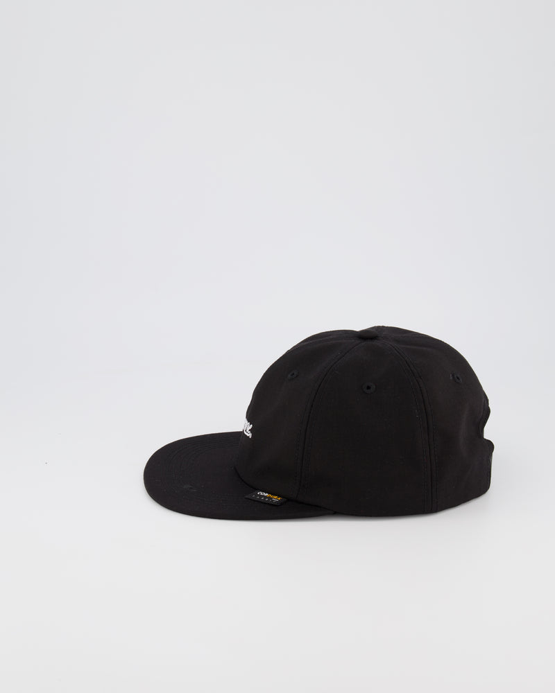 SUPREME 6 PANEL BASEBALL CAP - BLACK
