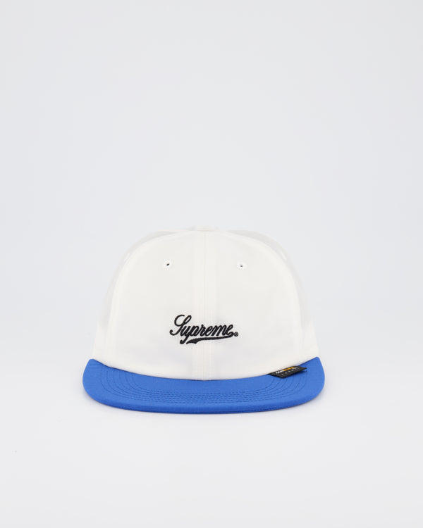 SUPREME 6 PANEL BASEBALL CAP - WHITE/ROYAL