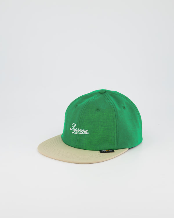 SUPREME 6 PANEL BASEBALL CAP- GREEN/STONE
