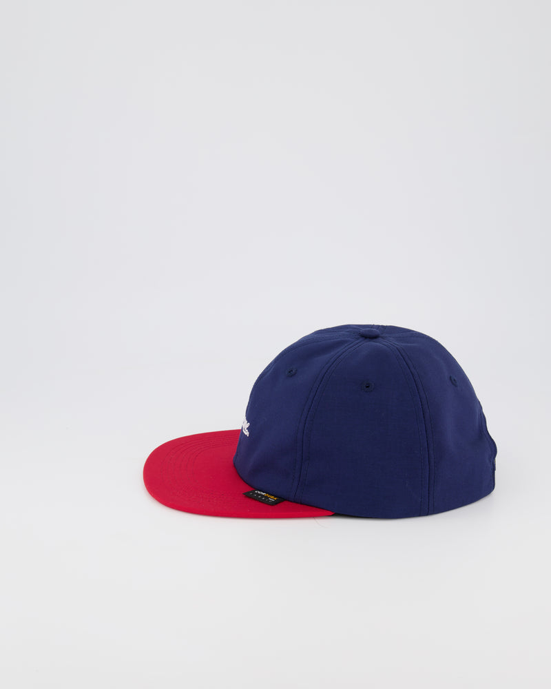 SUPREME 6 PANEL BASEBALL CAP - NAVY/RED