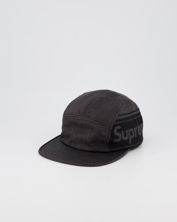 SUPREME 5 PANEL CAMPER HAT - BLACK