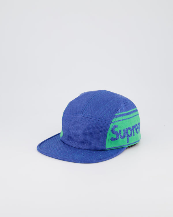 SUPREME CAVAS 5 PANEL HAT - PURPLE/TEAL