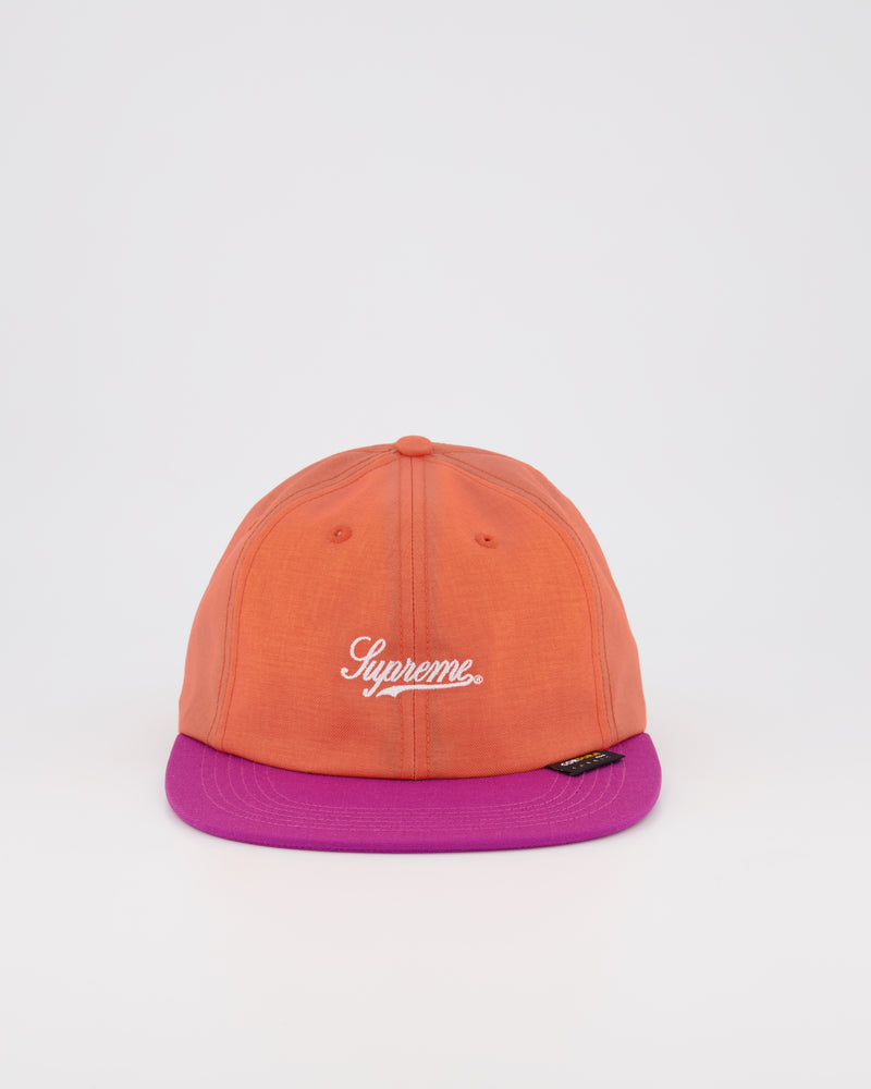 SUPREME 6 PANEL BASEBALL CAP - ORANGE/MAGENTA