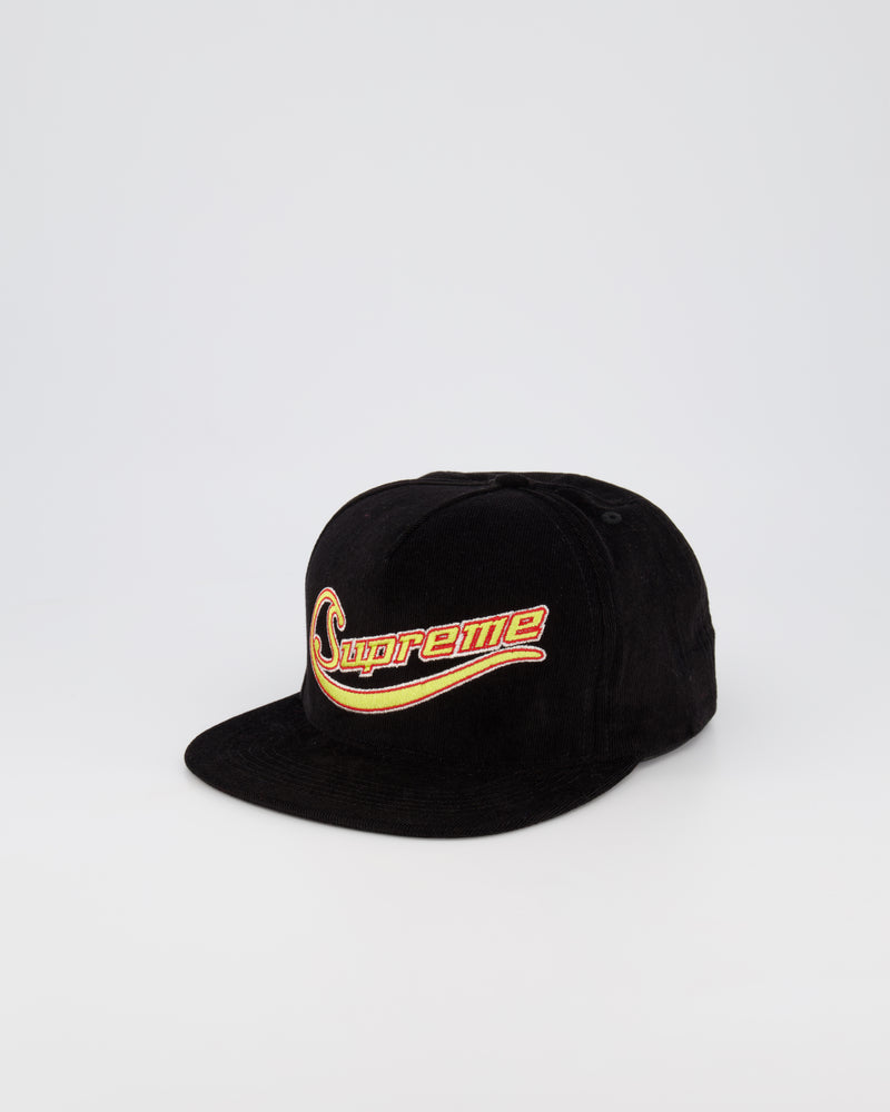 SUPREME PINCH PANEL BASEBALL CAP - BLACK