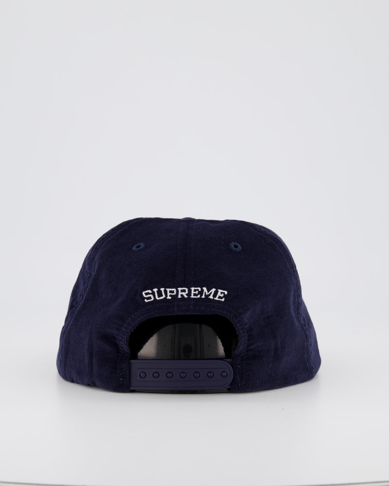 SUPREME PINCH PANEL BASEBALL CAP - BLACK/GREEN