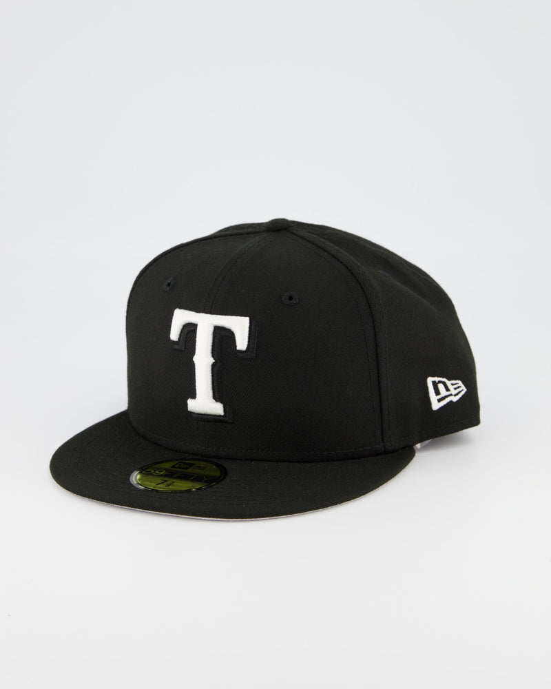 Texas Rangers 59FIFTY Fitted Cap - Black/White
