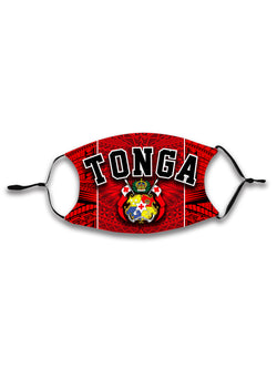 TONGA ADJUSTABLE FACE MASK with Filter - KIDS & ADULTS