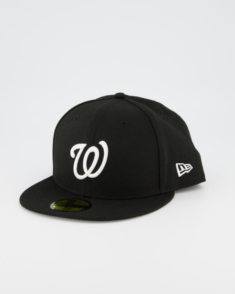 Washington Nationals 59FIFTY Fitted Cap - Black/White