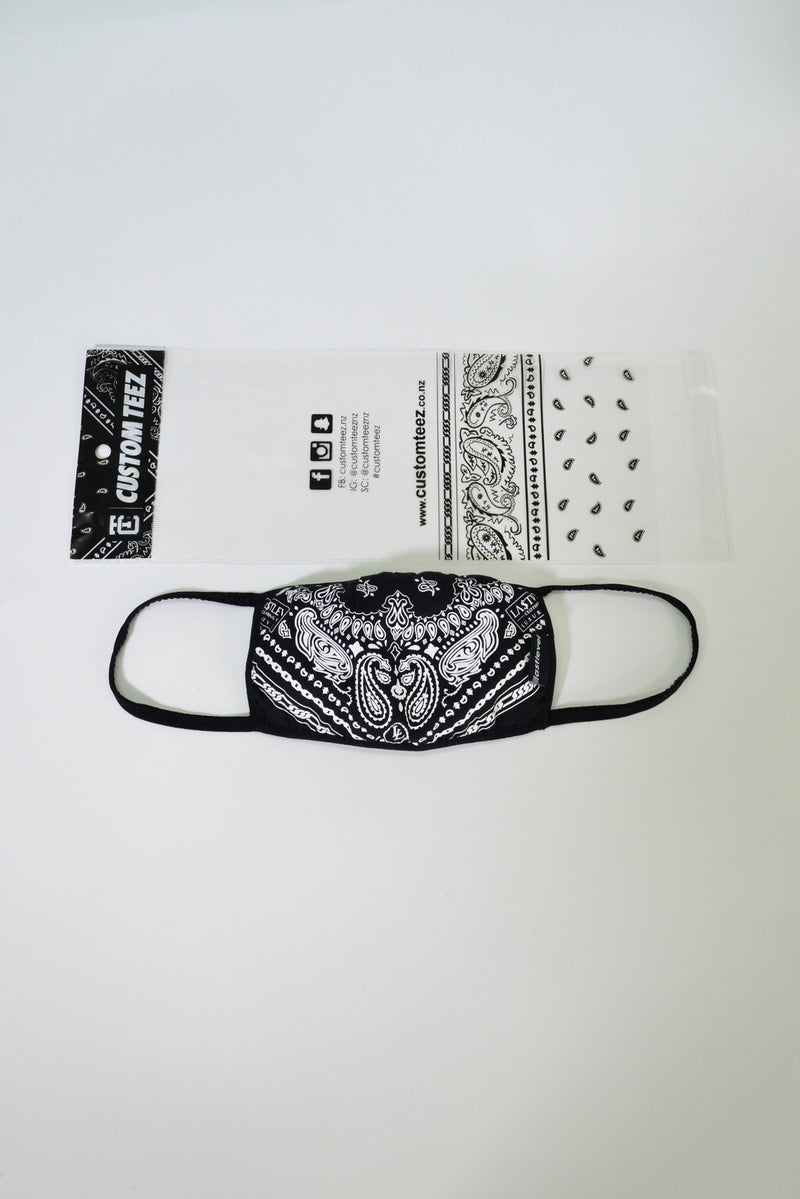 WOMENS BANDANA FACE MASK - RED