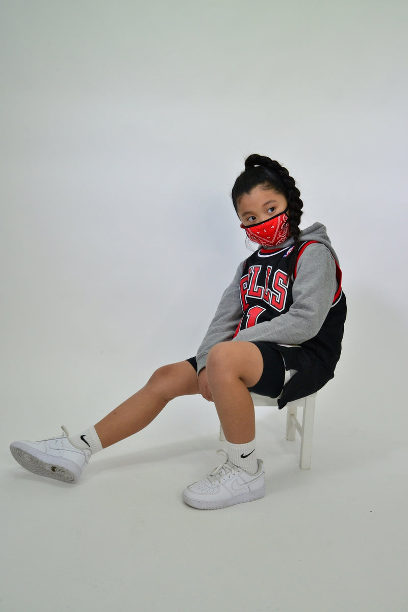 KIDS BANDANA FACE MASK - RED