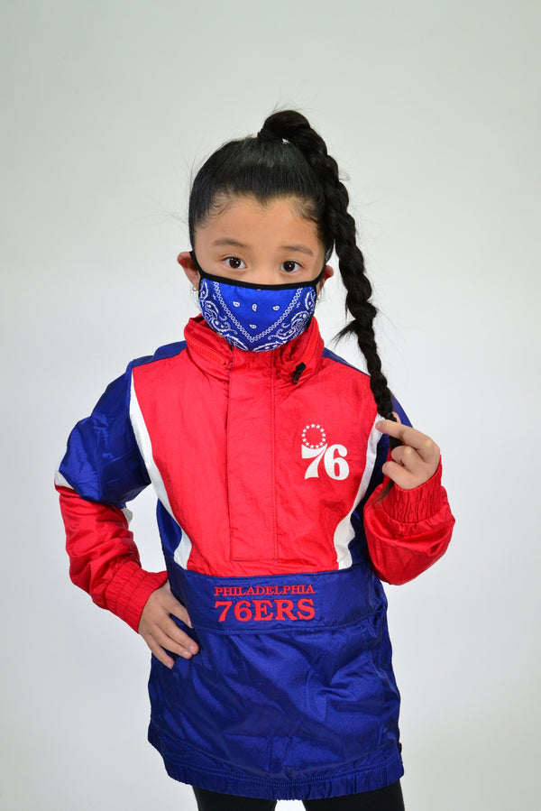 KIDS BANDANA FACE MASK - ROYAL BLUE