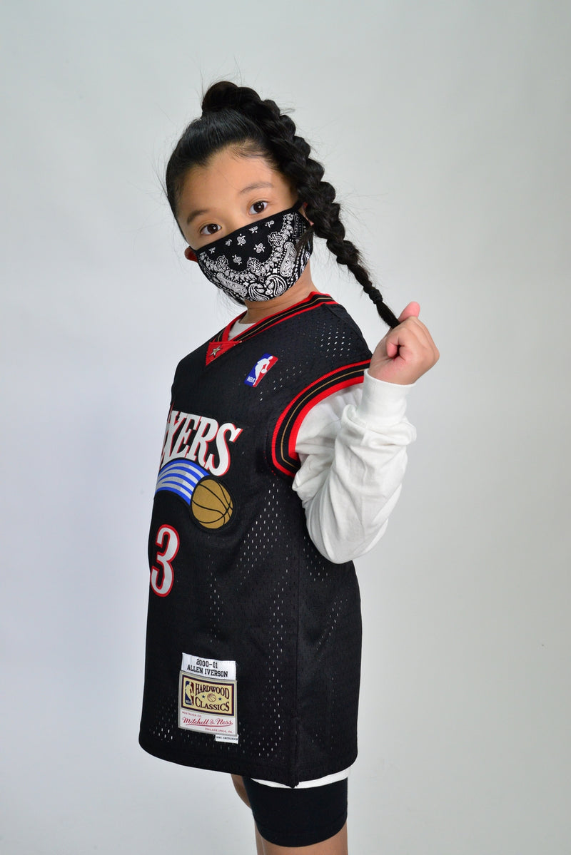 KIDS LASTLEVEL BANDANA FACE MASK - BLACK