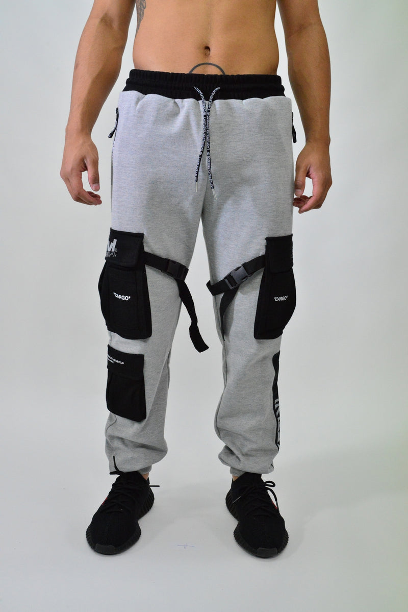 LASTLEVEL CARGO FLEECE TRACK PANTS
