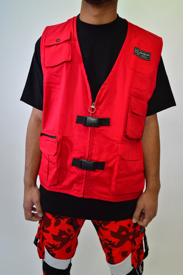 PLAIN TACTICAL VEST - RED