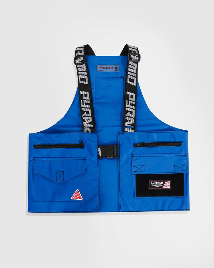 BLACK PYRAMID SPLINTER VEST - ROYAL BLUE