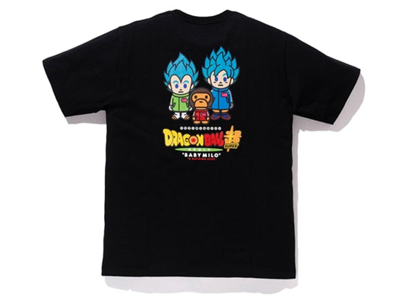 BAPE x DRAGON BALL SUPER SON GOKU & VEGETA TEE - BLACK