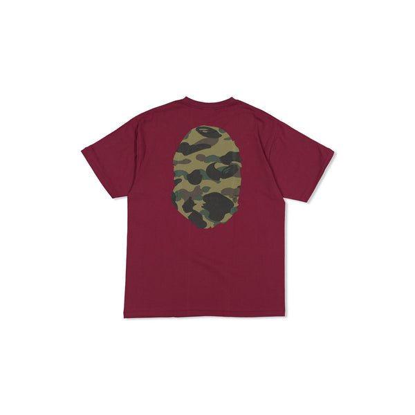BIG APE HEAD CAMO MAROON TEE - XL
