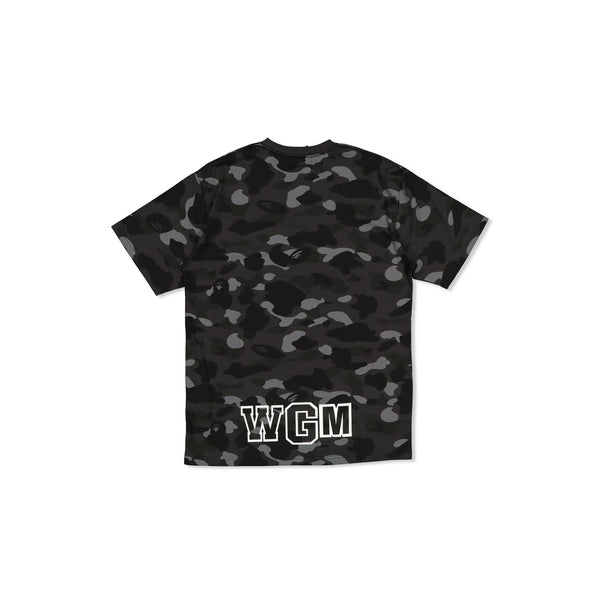 BAPE COLOURED CAMO SHARK TEE WGM - BLACK