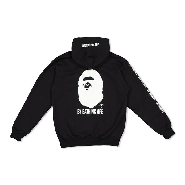 BAPE x CHAMPION BLACK PULL OVER HOODY