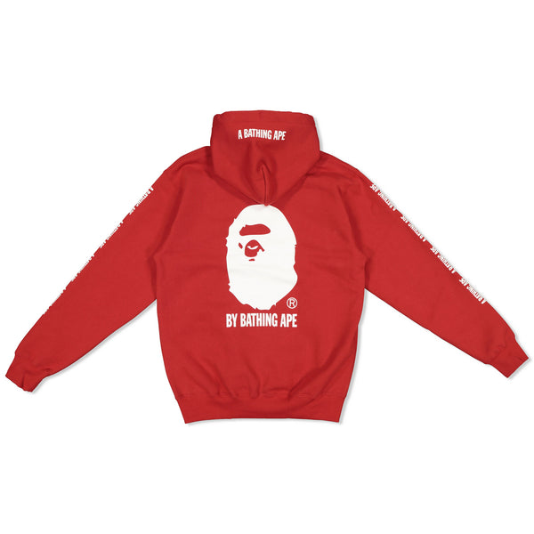 BAPE X CHAMPION PULLOVER HOODY - RED