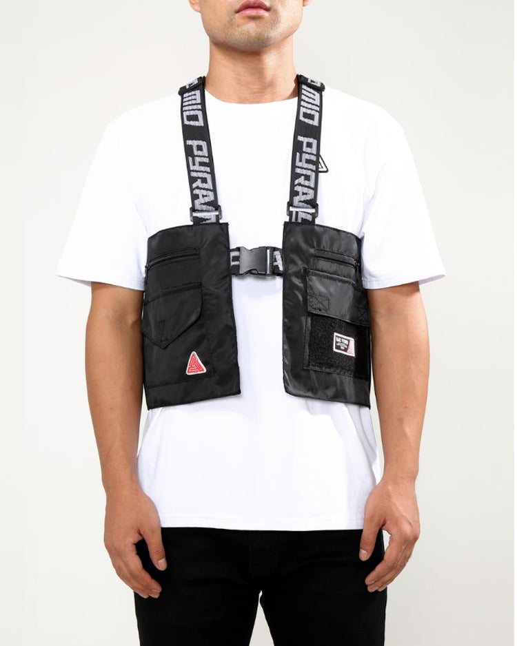 BLACK PYRAMID SPLINTER VEST - BLACK