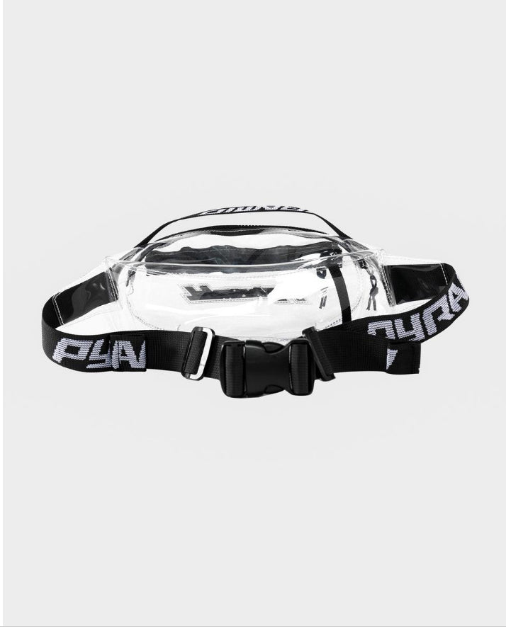 BLACK PYRAMID CLEAR CROSS OVER BAG