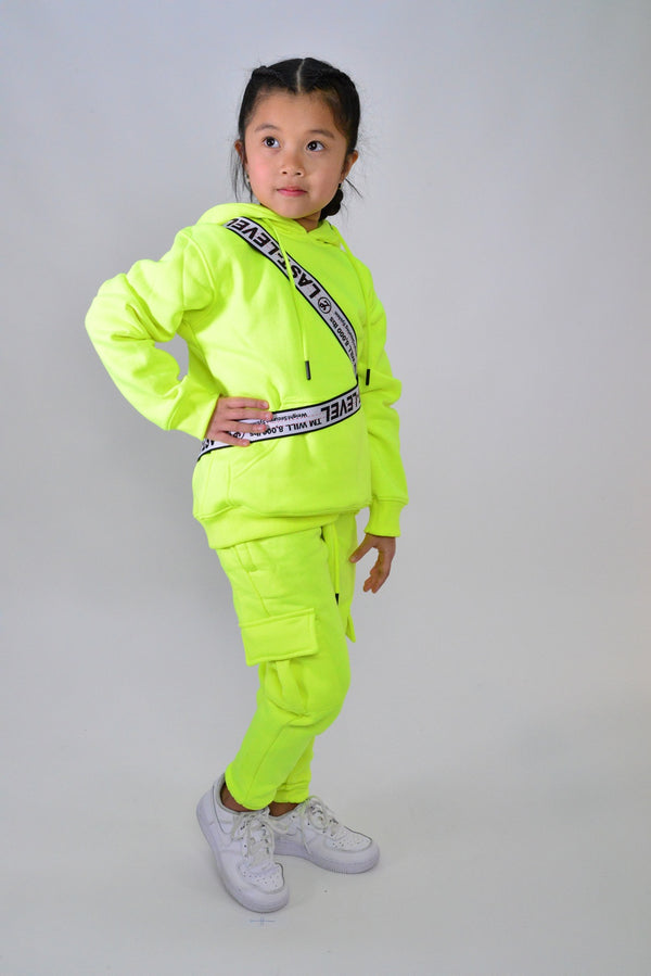 LASTLEVEL KIDS NEON FLEECE TRACKPANTS