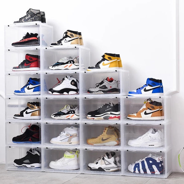 6 PK CT SNEAKER BOX SIDE DROP DISPLAY - (6 BOXES) FROST WHITE