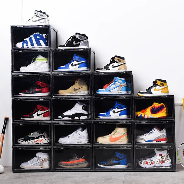 6 PK CT SNEAKER BOX SIDE DROP DISPLAY (6 BOXES) - BLACK