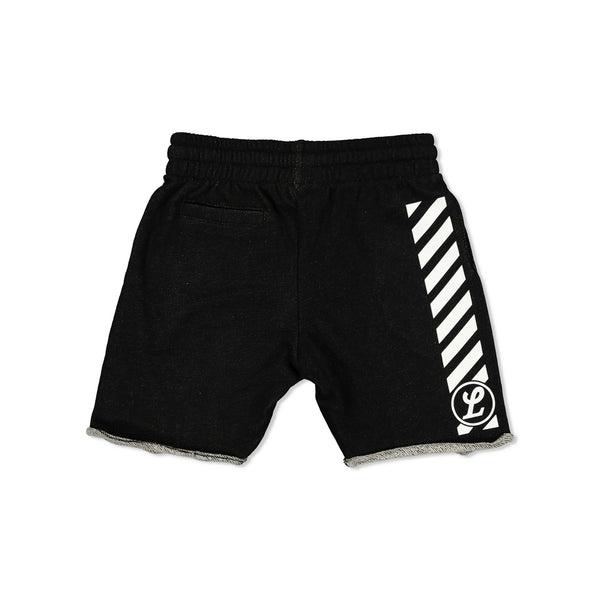 NEON CAPSULE KIDS TRACK SHORTS - BLACK