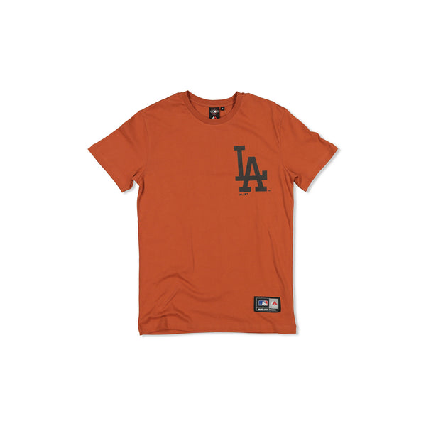 MAJESTIC LA DODGERS JEANER TEE - COPPER